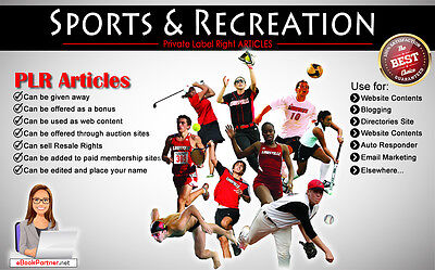 1300+ PLR Articles on Sports and Recreation Niche Private Label Rights