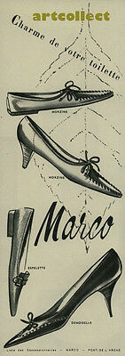 Original Vintage French Fashion Ad (1960): Marco Shoes