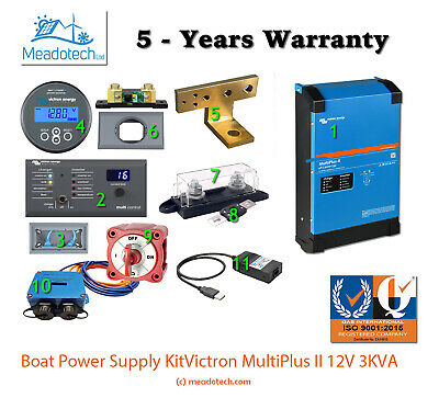 VICTRON ENERGY Multiplus 3KVA - 12V BOAT POWER SUPPLY KIT FREE EU Delivery