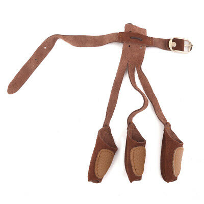 Archery Target Suede Leather 3 Fingers Shooting Glove Hunting ARCHERS Brown