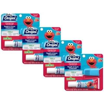 4 Pack - Baby Orajel Tooth And Gum Cleanser Fruit Flavor 0.7oz Each