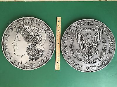 "HUGE 12"" RWP Wilton 1878 Morgan Silver DOLLAR Set Coin Collector Numismatic WOW"