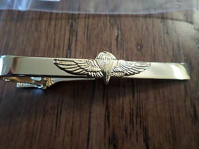 U.s Military Marine Corps Jump Wings Tie Bar Tie Tac  Clip On U.s.a Made