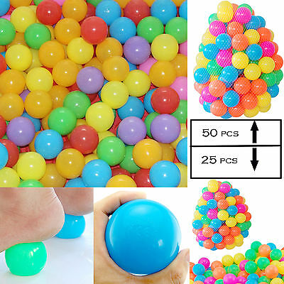 50/25PCS Colorful Simple Balls Soft Plastic Ocean Ball Baby Kid Toy Swim Pit Toy