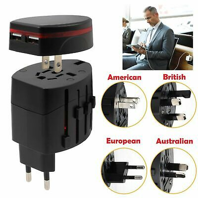 Universal Dual USB Multi Charger International Travel AU EU USA UK Plug Adapter