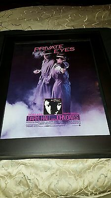 Hall & Oates Private Eyes Rare Original Promo Poster Ad Framed!