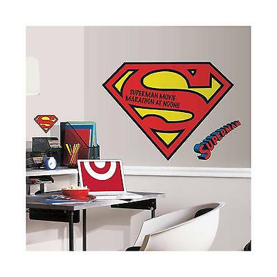 RoomMates Superman Logo Dry Erase Peel and Stick Giant Wall Decals