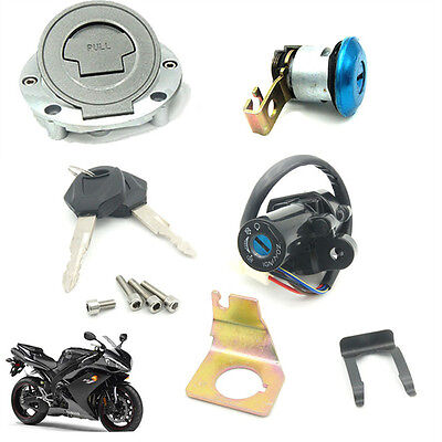 Motorcycle Ignition Switch & Seat Lock Set For Yamaha YZF R1 / R6 (1992-2012)