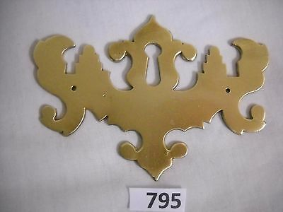 Antique Chippendale Brass Keyhole Cover