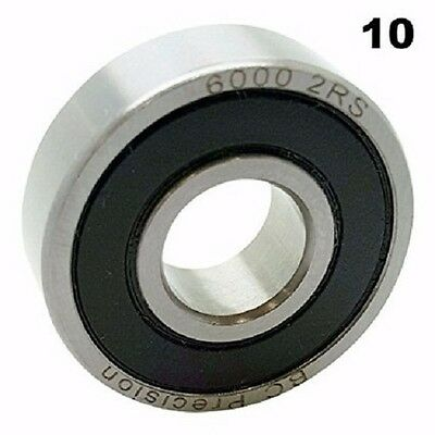 C3 Qty 2 6000 2RS,6000 RS Ball Bearing 10 x 26 1N161