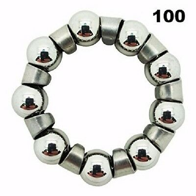 One Hundred (100) Bicycle 1/4 inch x 9 Ball Bearings With Retainer