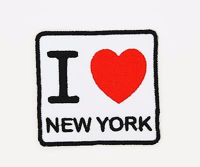 NY Travel Souvenir 217-Q New York Big Apple Embroidered Iron On Patch