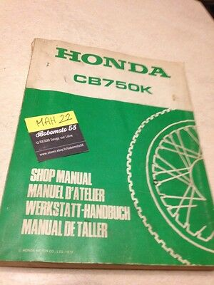 Honda CB750K CB750 CB 750 K manuel technique atelier workshop service manual