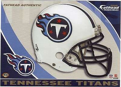 5abbc85d TENNESSEE TITANS HELMET & Logo Fathead Tradeables Removable Sticker 2008  #h31