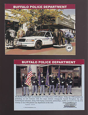 BUFFALO New York POLICE DEPARTMENT Ford City Squad Patrol Car 2002 TRADING CARD