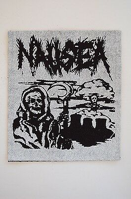Nausea Cloth Patch Crust Punk Rock Amebix Dystopia Antisect Antichism (CP38)