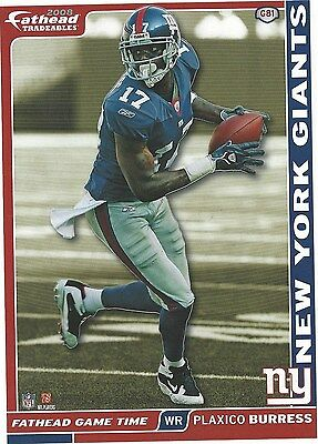 Plaxico Burress New York Giants Msu Spartans Fathead Sticker Tradeables 2008 G81