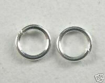 500-Bright Silver Plated Jump Rings.5mm+FREE-50 matching earring hooks  (2A7)