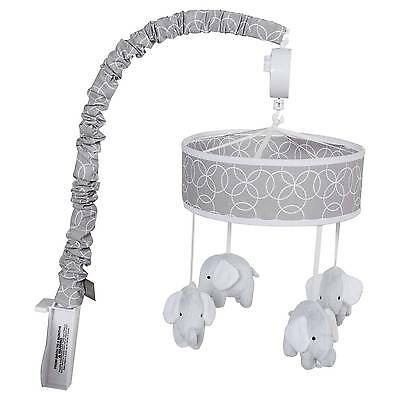 Trend Lab Gray Circles with Elephants Crib Mobile