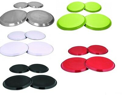 New 4 Pc Stainless Steel Coloured Hob Cover Protector Metal Ring Electric Cooker