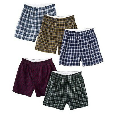 Boys' Fruit Of The Loom® 5-pack Tartan Plaid Boxers - Assorted Colors