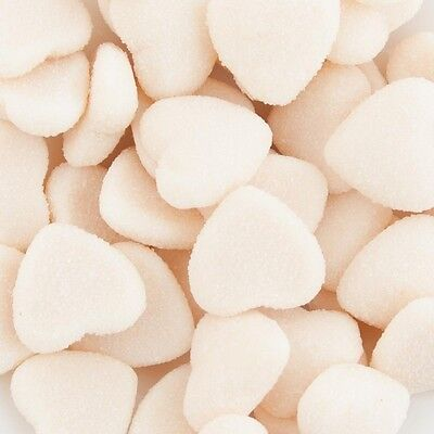 White Sour Love Hearts 1Kg Wedding Candy Buffet Lollies