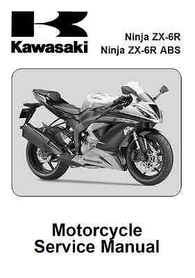 2013 2014 2015 Kawasaki Ninja Zx 6r Zx6r Service Manual In 3 Ring