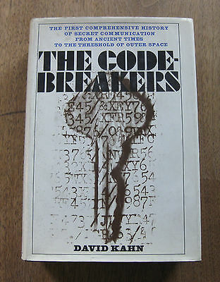 THE CODE-BREAKERS by David Kahn - 1st printing stated HCDJ 1967 - history - NF