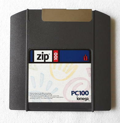 Iomega ZIP 100 PC Formatted 100Mb ZIP Disk