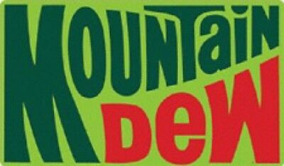 """New Ande Rooney 70's Mountain Dew Embossed Tin Sign  17"""" X 10"""" Free Shipping"""