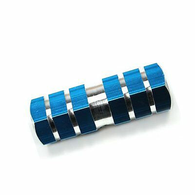 513Q4 Blue Axle Foot Pegs for Bicycle Bike