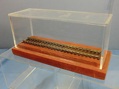 "Scale""00""   7"" Rail  Perpex Display Case With Wooden Plith  Mib"