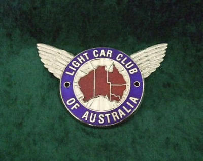 Grille/bumper Badge - Light Car Club Of Australia