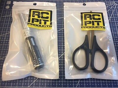 Body Reamer and Titanium Nitride Curved Lexan Scissors for RC Car/Truck Bodies