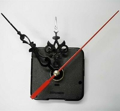 Clock Motor For Wall Clock Replacement Movement Parts Black Hands Tool Kit CA