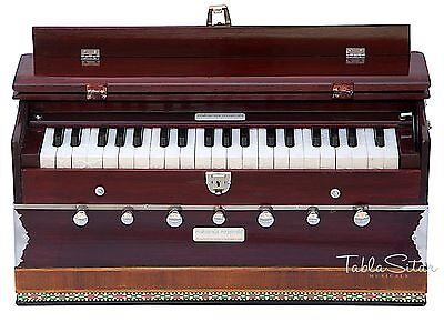 HARMONIUM No.5200m|MAHARAJA|7 STOP|3¼ OCTAVE|MULTI-BELLOW|COUPLER|PIANO|DB