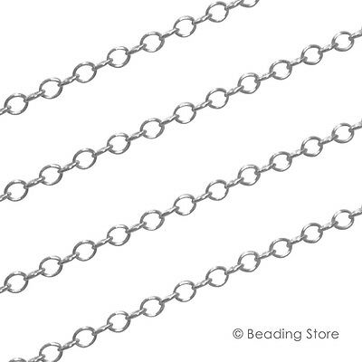 Various 925 Sterling Silver 2.2mm Round Cable Link Unfinished Beading Chain
