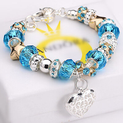 Hot Solid 925 Sterling Silver Jewelry Charm Bracelet  Womens Mens Vintage Bangle
