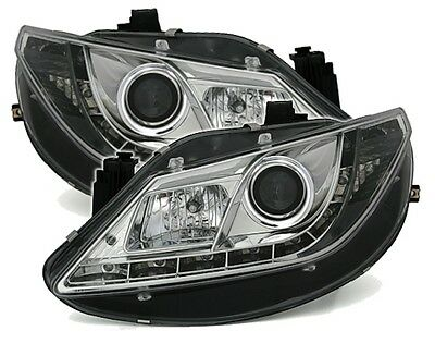 Phares Feux Avant Devil Eyes Chrome Led Seat Ibiza 6J 2008-2012 2.0 & Fr & Cupra