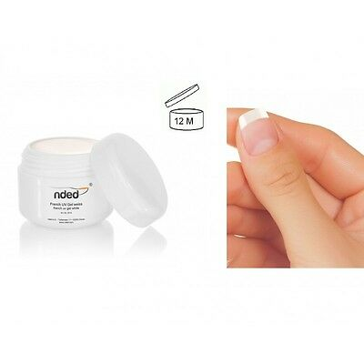 Gel UV Vernis French manucure ongle ongles NDED - 5ml - Blanc - 6105