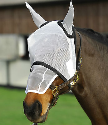 Aerborn Horse Fly Mask With Sunshield & Ear Protection Nose Flap Pony Cob Horse