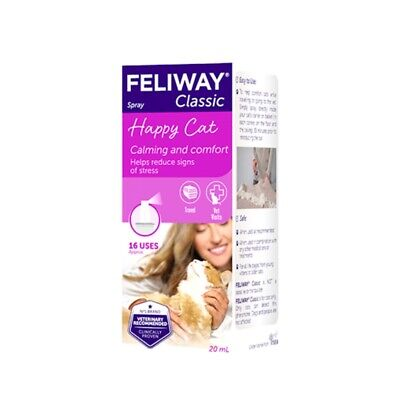 Feliway Pheromone Spray 20ml Stress Relief For Cats