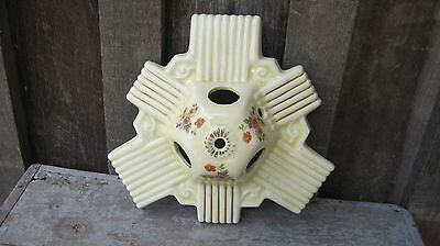 Vintage Art Deco Porcelain Flush Mount Light Fixture Base For Refurbish Repair
