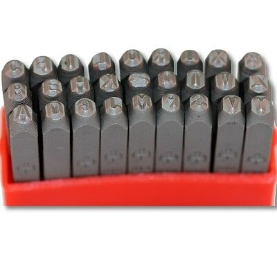 """27 pcs Uppercase Letters Metal Punch Stamps With """"&"""", Size 3.0mm Arial font"""