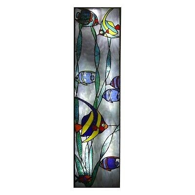Angel Fish, Original Stained Glass Artwork By Robert