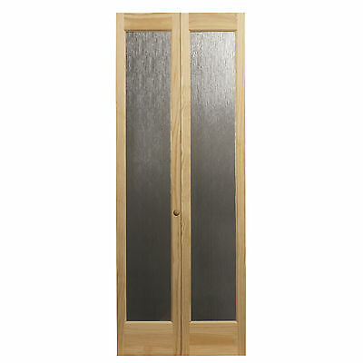 AWC 937 Aspen Full Glass 32-inch x 80.5-inch Unfinished Bifold Door
