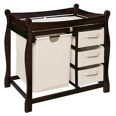 Badger Basket Badge Changing Table & Hamper