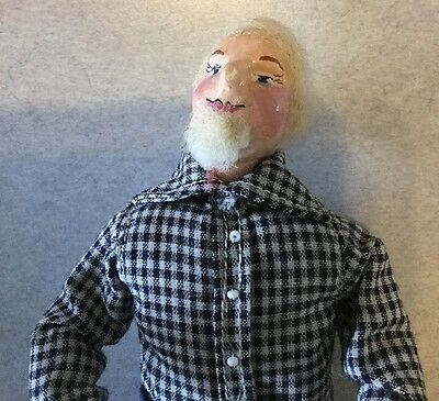 Antique Early German Paper Mache Milliner's Model Man Doll