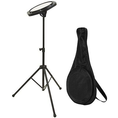 DrumFire DFP5500 Drum Practice Pad with Tripod Stand and Bag - Portable