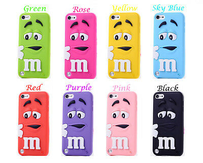 M & M Chocolate Bean Silicone Case Cover For Apple iPod Touch 5 & 6
